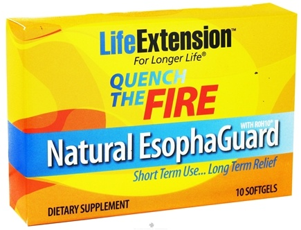 DROPPED: Life Extension - Quench the Fire Natural EsophaGuard - 10 Softgels CLEARANCE PRICED