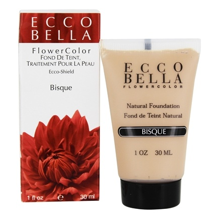 DROPPED: Ecco Bella - FlowerColor Natural Liquid Foundation Bisque 15 SPF - 1 oz.