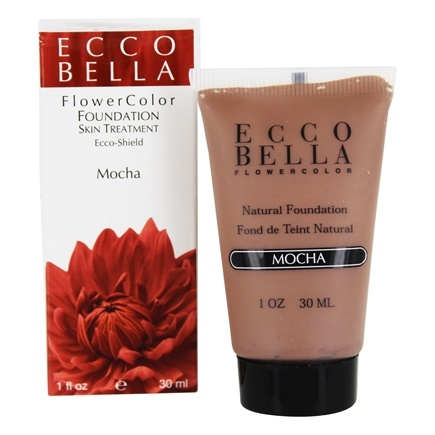 DROPPED: Ecco Bella - FlowerColor Natural Liquid Foundation Mocha 15 SPF - 1 oz. CLEARANCE PRICED