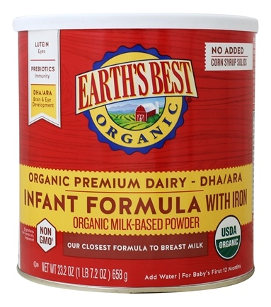 DROPPED: Earth's Best - Organic Infant Formula with DHA & ARA - 23.2 oz.