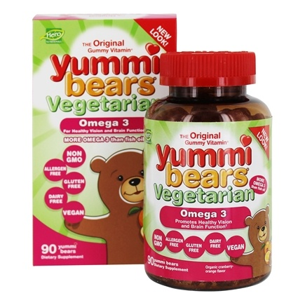 Zoom View - Yummi Bears Children's Omega 3-6-9 Fish Free