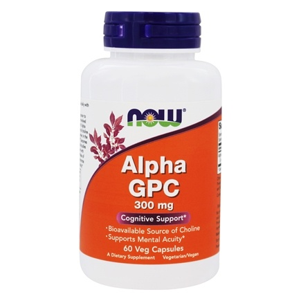 NOW Foods - Alpha GPC 300 mg. - 60 Vegetarian Capsules
