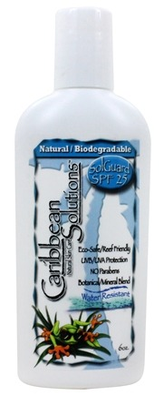Caribbean Solutions - SolGuard Natural Biodegradable Sunscreen 25 SPF - 6 oz.