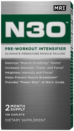 DROPPED: MRI: Medical Research Institute - N30 Pre-Workout Intensifier - 128 Caplets
