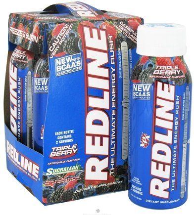 DROPPED: VPX - Redline RTD Energy Drink Rush 4 x 8oz. Triple Berry - 4 Pack CLEARANCE PRICED