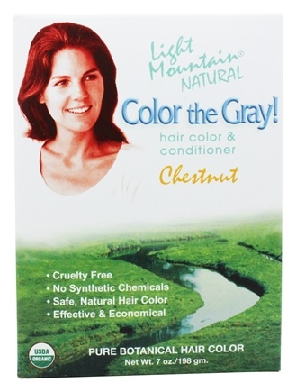 Light Mountain Natural - Color The Gray Hair Color & Conditioner Kit Chestnut - 7 oz.