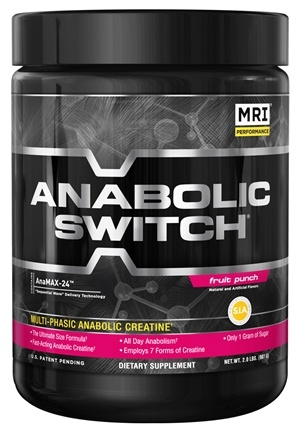 DROPPED: MRI: Medical Research Institute - Anabolic Switch Multi-Phasic Anabolic Creatine Fruit Punch - 2 lbs. CLEARANCE PRICED