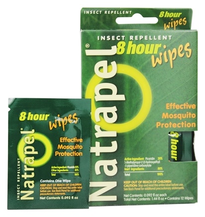 Natrapel - Deet-Free 8-Hour Insect Repellent Wipes - 12 Wipe(s)