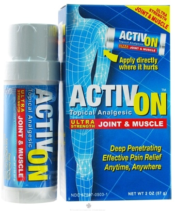 DROPPED: Miralus Healthcare - Activ On Ultra Strength Joint & Muscle - 2 oz. CLEARANCE PRICED