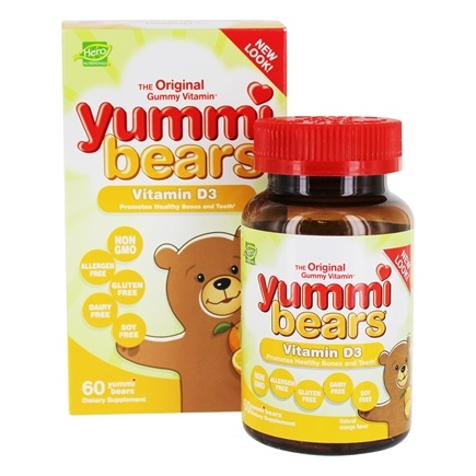 Hero Nutritionals Products - Yummi Bears Children's Vitamin D3 600 IU - 60 Gummies