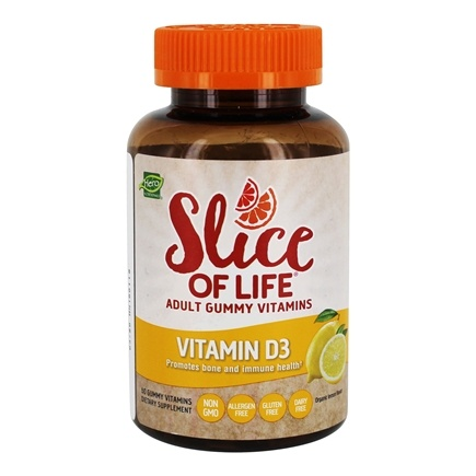Zoom View - Slice of Life Vitamin D3 Adult Gummy Vitamins