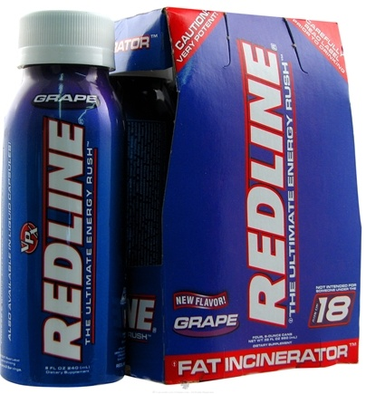 Zoom View - Redline RTD Energy Drink Rush 4 x 8oz. (4 pack)