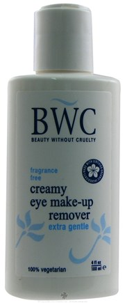 DROPPED: Beauty Without Cruelty - Creamy Eye Make-Up Remover Extra Gentle Fragrance Free - 4 oz. CLEARANCE PRICED