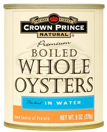DROPPED: Crown Prince Natural - Boiled Whole Oysters - 8 oz.