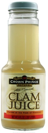 DROPPED: Crown Prince Natural - Clam Juice - 8 oz. CLEARANCE PRICED