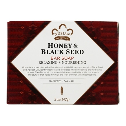Nubian Heritage - Bar Soap Honey & Black Seed - 5 oz.