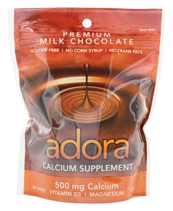 DROPPED: Adora - Calcium Supplement Milk Chocolate 500 mg. - 30 Count