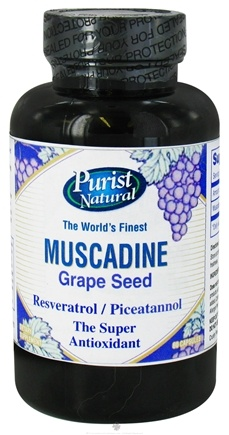 DROPPED: Purist Natural - Muscadine Grape Seed 650 mg. - 60 Capsules