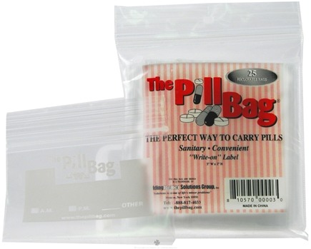 DROPPED: The Pill Bag - The Pill Bag Sanitary Reclosable Bag - 25 Bags