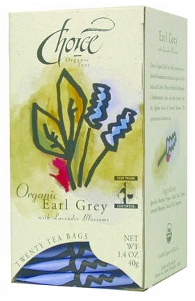 DROPPED: Choice Organic - Gourmet Earl Grey with Lavender Blossoms - 20 Tea Bags