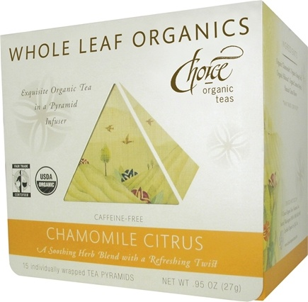 DROPPED: Choice Organic - Whole Leaf Chamomile Citrus Tea - 15 Tea Pyramid(s) CLEARANCE PRICED