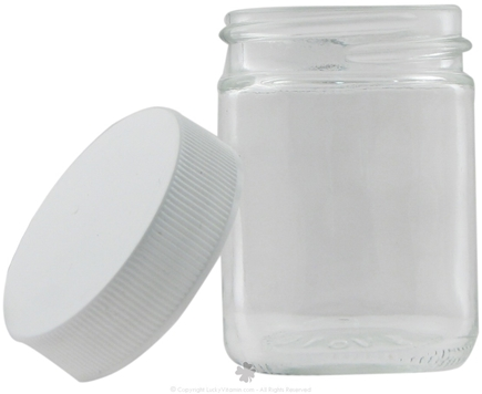 DROPPED: Frontier Natural Products - Glass Jar with White Plastic Cap - 1.25 oz.