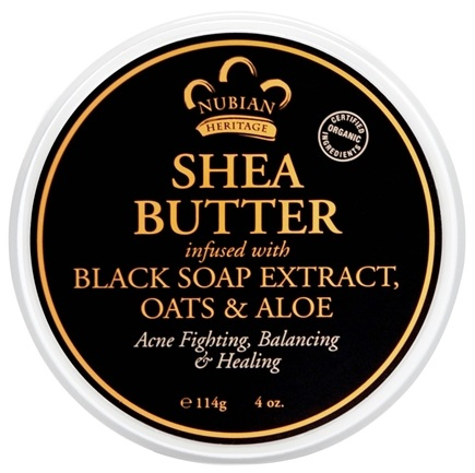 Nubian Heritage - Shea Butter Infused With Black Soap Extract Oats & Aloe - 4 oz.