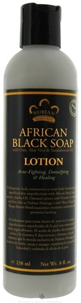 DROPPED: Nubian Heritage - Lotion African Black Soap - 8 oz. CLEARANCE PRICED