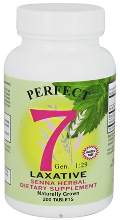 DROPPED: Agape Health Products - Perfect 7 Laxative Senna Herbal Supplement - 200 Tablets