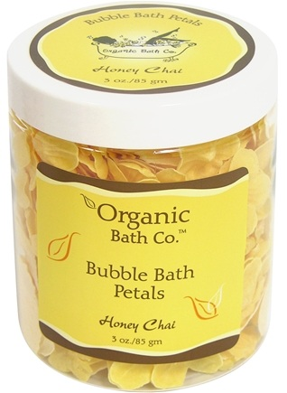 DROPPED: Organic Bath Company - Bubble Bath Petals Honey Chai CLEARANCE PRICED - 3 oz.