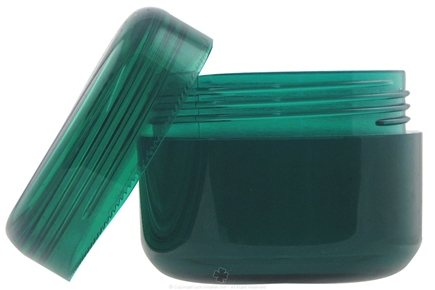 DROPPED: Frontier Natural Products - Emerald Green Plastic Container With Domed Lid - 2 oz. CLEARANCE PRICED
