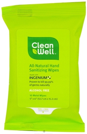 DROPPED: CleanWell - Natural Hand Sanitizing Wipes - 10 Wipe(s)