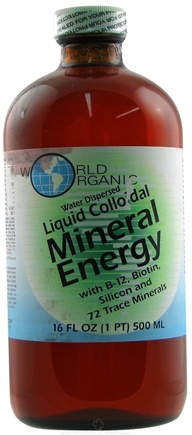 DROPPED: World Organic - Liquid Mineral Energy - 16 oz.