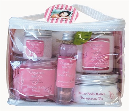 DROPPED: Organic Bath Company - Instant Spa Gift Set Pomegranate Fig - CLEARANCE PRICED