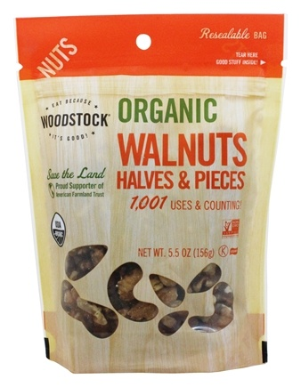 Woodstock Farms - Organic Walnut Halves and Pieces - 5.5 oz.