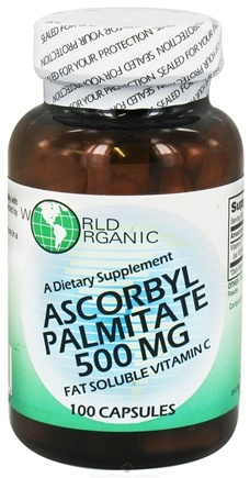 DROPPED: World Organic - Ascorbyl Palmitate 500 mg. - 100 Tablets CLEARANCE PRICED
