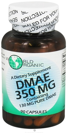 DROPPED: World Organic - DMAE 350 mg. - 90 Capsules CLEARANCE PRICED