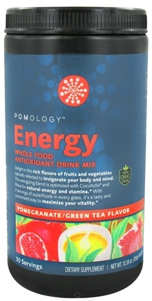 DROPPED: Pomology - Energy Whole Food Antioxidant Drink Mix Pomegranate Green Tea Flavor - 10.58 oz.