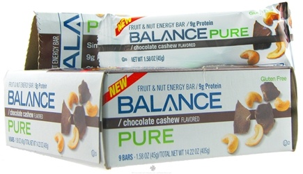 DROPPED: Balance - Pure Fruit & Nut Energy Bar Chocolate Cashew - 1.58 oz.