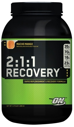 DROPPED: Optimum Nutrition - 2:1:1 Recovery Mucho Mango - 3.73 lbs.