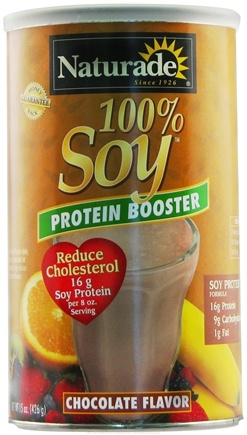 DROPPED: Naturade - 100% Soy Protein Booster Chocolate Flavor - 15 oz.
