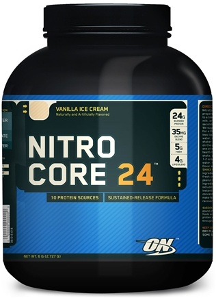 DROPPED: Optimum Nutrition - NitroCore 24 Vanilla Ice Cream - 6 lbs.