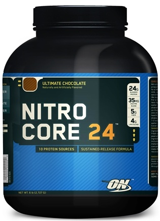 DROPPED: Optimum Nutrition - NitroCore 24 Ultimate Chocolate - 6 lbs. CLEARANCE PRICED
