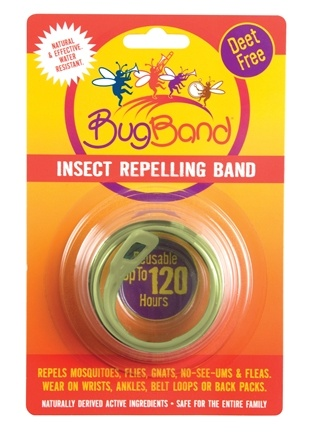 DROPPED: Bug Band - Deet Free Insect Repelling Band Olive Green - 1 Band(s) CLEARANCE PRICED
