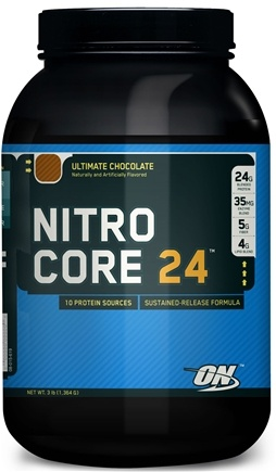 DROPPED: Optimum Nutrition - NitroCore 24 Ultimate Chocolate - 3 lbs. CLEARANCE PRICED
