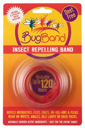 DROPPED: Bug Band - Deet Free Insect Repelling Band Red - 1 Band(s) CLEARANCE PRICED