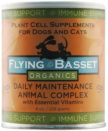 DROPPED: Flying Basset Organics - Immune Support Daily Maintenance Animal Complex With Essential Vitamins - 8 oz.