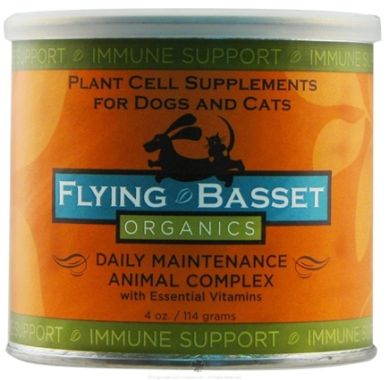 DROPPED: Flying Basset Organics - Immune Support Daily Maintenance Animal Complex With Essential Vitamins - 4 oz.