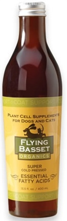 DROPPED: Flying Basset Organics - Coat Support Super Cold Pressed Essential Fatty Acids - 13.5 oz.