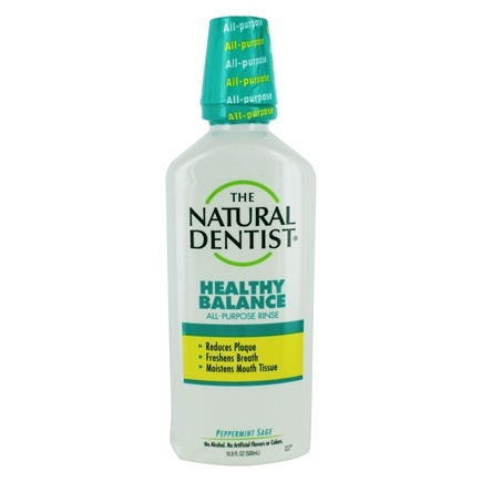 Natural Dentist - Daily Antigingivitis Mouth Rinse Peppermint Sage - 16.9 oz.